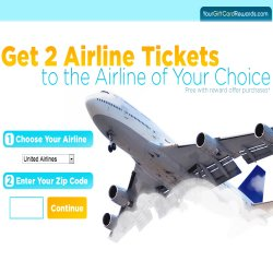 Get 2 United Airline vouchers to the destination of your choice thanks to YourGiftCardRewards.com - see details.