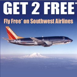Get 2 Free Southwest Airlines Tickets - see details.